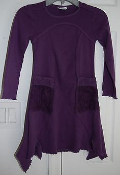 Naartjie Girls Lace Embroidered Netting Trimmed Dress Infinity Purple Size 6 js