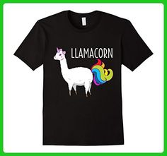 Mens Adult Unicorn Shirts, The LLAMACORN XL Black - Fantasy sci fi shirts (*Amazon Partner-Link)