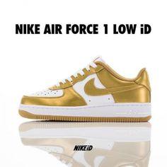NIKEiD AIR FORCE 1 LOW METALLIC #sneaker