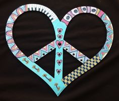 Funkadelic Peace Sign/ Peace Heart by PeaceSignsHippieCat on Etsy