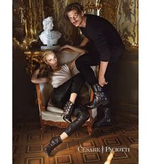 Cesare Paciotti H45102 Camoscio Black - Zappos Couture
