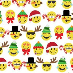 Emoji Christmas Gift Wrap Roll 24 X 15  Gift Wrapping Paper ** To view further for this item, visit the image link. (This is an affiliate link)