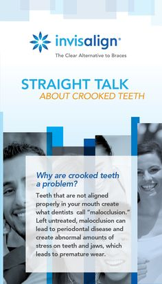 Crooked teeth are more than just an appearance problem. Invisalign can help. Get Invisalign at Aesthetic Family Dental Care http://www.myazsmile.com/