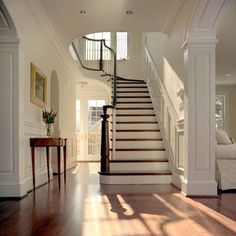 FOYER – great example of an impressive way to welcome guests. wide-open entry hall.
