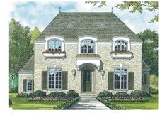 eplans french country house plan - Google Search
