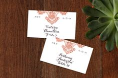 Spanish Lace Place Cards by annie clark at minted.com