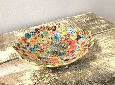 button dish, crafts, repurposing upcycling