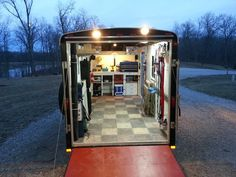Enclosed Trailer Setups - Page 30 - Trucks, Trailers, RV's & Toy Haulers - ThumperTalk Enclosed Trailer Camper Conversion, Cargo Trailer Conversion, Enclosed Trailers, Custom Trailers, Cargo Trailers, Utility Trailer, Travel Trailers, Equipment Trailers, Camper Trailers