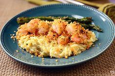Golden Shrimp with Parmesan Risotto
