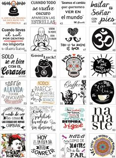Etiquetas  Frascos Botellas Transparentes X12 Unid  8x8.5 Cm - $ 90,00 Message Quotes, Spanish Activities, School Notes, Handmade Birthday Cards, Diy Clay, Svg Cuts, Happy Planner, Holidays And Events, Printable Wall Art