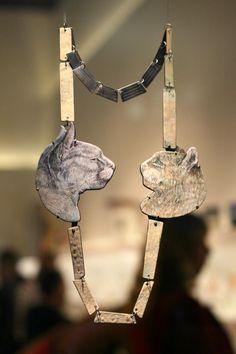 Tabea Reulecke, Neckpiece 'Wenn die Mäuse auf dem Tisch tanzen' via Pieces of Eight Gallery.