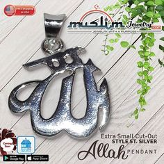 Sterling Silver Allah Pendant for Necklaces Best Jewelry Stores, Muslim, Allah, Islamic, Necklaces, Sterling Silver, Pendant, Style, Quote