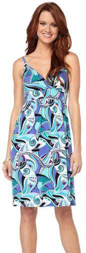Allison Brittney Purple Swirl Print Tie Back Dress Purple Multi Large
