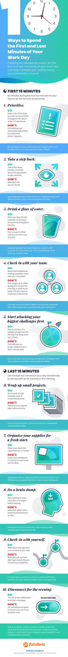 10 Ways to Make Your Workdays More Efficient | Infographic