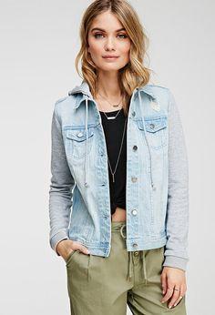 The New Way To Wear A Denim Jacket. Life in Progress Hooded Denim Jacket