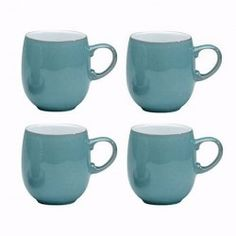 Denby Azure Large curve mug VALUE PACK of 4 - Tableking