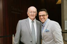 Raúl Esparza and John Doyle at the Classic Stage Company Benefit Gala