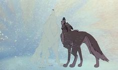Balto and The White Wolf howling gif