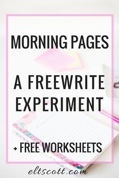 Morning Pages: A Freewrite Experiment | Freewrite. Brain dump. Journaling…
