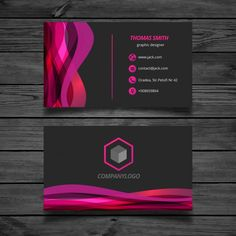 Wavy pink and black Business Card Black Business Card, Elegant Business Cards, Business Card Design, Wedding Menu Template, Bussiness Card, Letterpress Business Cards, Photography Business Cards, Letterhead Template, Web Design