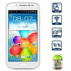 $52.99 GT-A9500 Android 4.2 Smart Phone with 4.7 inch WVGA Screen SP6820A 1GHz Dual Cameras WiFi - White