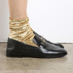 darner gold foil sock #cartonmagazine                                                                                                                                                                                 Plus