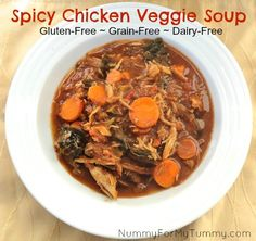 Throw your veggie and chicken leftovers into your slow-cooker and make yourself a batch of SPICY CHICKEN VEGGIE SOUP