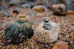 Monique Sady Photography - Ring detail on Lake Tahoe beach