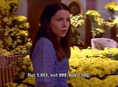 Lorelai Gilmore......and 1000 yellow daisies (season 1 final episode)  #GilmoreGirls