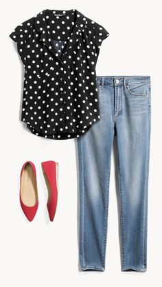 Stitch fit, fashion over work fashion, casual outfits, fashion outfits, Over 50 Womens Fashion, Fashion Over 50, Look Fashion, Fashion Outfits, Fashion Trends, 50 Style, Edgy Style, Mode Style, Red Flats Outfit