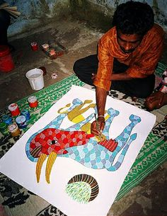 The Green Elephant: Tribal Art Feature : Gond Paintings