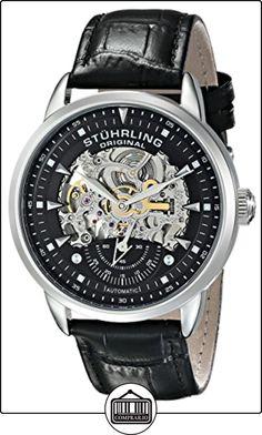 Stuhrling Original Man Executive - Reloj automático hombre correa de piel negro de  ✿ Relojes para hombre - (Gama media/alta) ✿