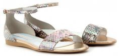 holographic trend 2012 :: Stella McCartney snake-embossed faux leather sandals.