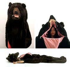 Sleeping Bear sleeping bag. I want one of these...looks comfy.