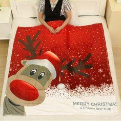 #RoseGal.com - #RoseGal Christmas Deer Flannel Keep Warm Throw Blanket - AdoreWe.com