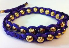 These bracelets look really easy to make!!