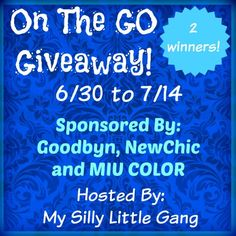 On The Go Giveaway! - My Silly Little Gang