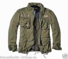 BRANDIT M65 GIANT MENS MILITARY PARKA US ARMY JACKET WINTER ZIP OUT LINER OLIVE