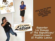 "Mover and Shaker: Reporter Liz Román of The Republican/Masslive.com/El Pueblo Latino says Latinos ""have a desire for progress""! www.LatinoAlliance.net"