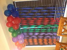 Balloon and Streamer idea for covering sliding door Turtle Birthday Parties, Ninja Turtle Birthday, Ninja Turtle Party, Ninja Turtles, 5th Birthday, Birthday Ideas, Diy Party, Party Ideas, Party Central