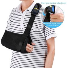 Yosoo Arm Sling - Dislocated Shoulder Sling for Broken Arm Immobilizer Wrist Elbow Support - Ergonomic Lightweight Breathable Mesh Neoprene Padded Strap - Suits both Men & Women One size (Adult) http://amzn.to/2f7qBXY #Yosooarmsling