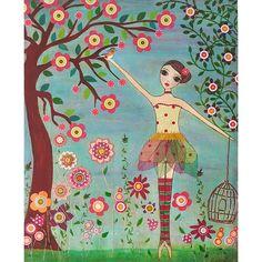 Ballerina dipinto blocco stampa artistica fata di Sascalia su Etsy