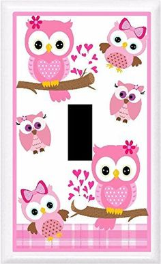 BB ADORABLE OWLS NURSERY  CHILDREN DECOR LIGHT SWITCH COVER PLATE OR OUTLET 1x Toggle single *** Click image for more details.