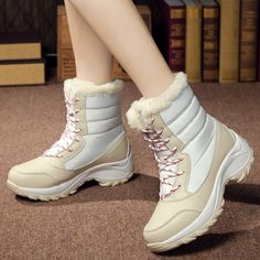 3bbb3f596482e8 Women boots non-slip waterproof winter ankle snow boots women platform  winter shoes with thick