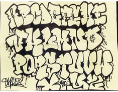 Graffiti Alphabet Styles, Graffiti Lettering Alphabet, Graffiti Text, Chicano Lettering, Graffiti Words, Graffiti Writing, Tattoo Lettering Fonts, Graffiti Tagging, Graffiti Characters
