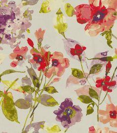 HGTV Home Decor Print Fabric Color Study Berry