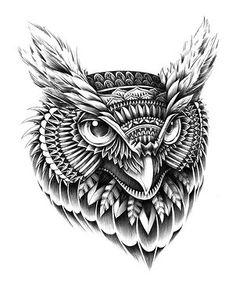 BioWorkZ - Ornate Owl Head