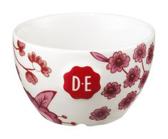 D.E Hylper latte kom klein - wit red, white red #coffee #bowl #HylperHeritage #DouweEgberts