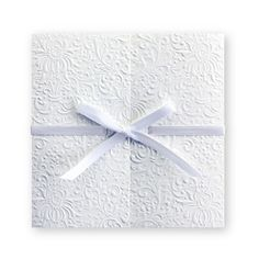 Ribbon can also be black or lavender. The Gift of Love Wedding Invitations by TheAmericanWedding.com