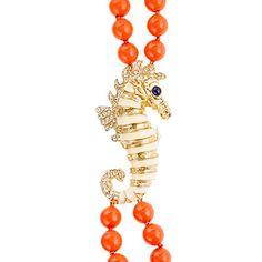 Double-strand seahorse necklace- J Crew
